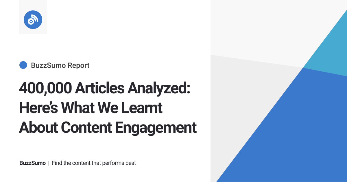 400,000 Articles: What We Learned About Content Engagement